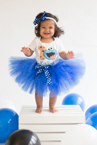 Cookie Monster tutu set-Cookie monster tutu set-Cookie monster outfit