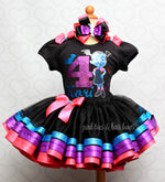 Load image into Gallery viewer, Vampirina tutu set- Vampirina outfit-Vampirina dress-Vampirina birthday(deluxe)