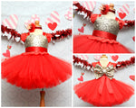 Load image into Gallery viewer, Valentine Dress-Girls valentine dress- Valentines tutu dress-Valentine tutu