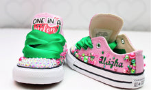 Watermelon shoes- watermelon bling Converse-Girls watermelon Shoes-watermelon converse