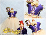 Willy Wonka Costume-Willy wonka Tutu Dress- Willy wonka dress