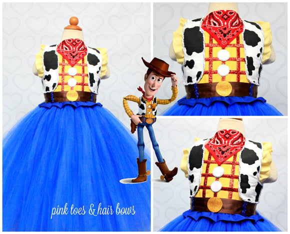 Woody Costume-Woody Tutu Dress- Woody dress-Toy story costume