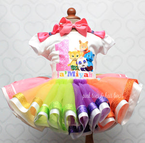 Word Party tutu set- Word Party outfit-Word Party dress