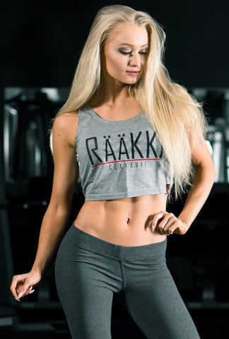 RÄÄKKI Essentials RÄÄKKI Crop Top - Stone Grey