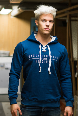 RÄÄKKI Sports Fam. Hoodie - FIN BLUE (Men)