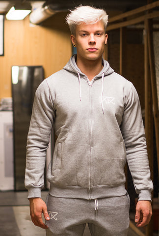 RÄÄKKI Essentials 187 Hoodie - Grey (Men)