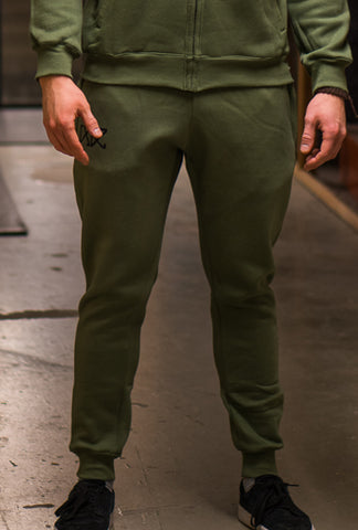 RÄÄKKI Essentials 187 Joggers - Army Green (Men)