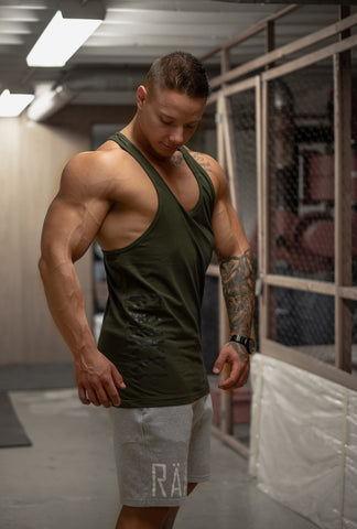 RÄÄKKI Army Stringer Tank - Black