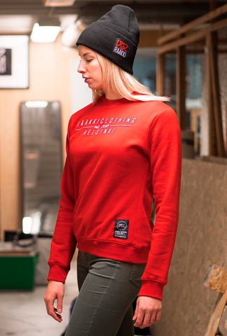 RÄÄKKI Essentials Sweatshirt - Blood Red