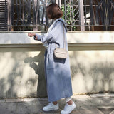 2017 New Autumn Winter Women Long Sleeve Hooded Trench Casual Ladies Solid Pockets Loose Cardigan Outwear Long Coats