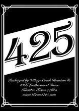 Brand 425 Texas Small Batch Specialty Coffee Back Label