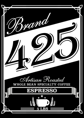Texas Specialty Craft Coffee Brand 425 Espresso 5LB Bag