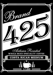 "Costa Rican ""Tarrazu"" Don Roberto Estate - Medium Roast - Texas Specialty Craft Coffee - 5LBS"