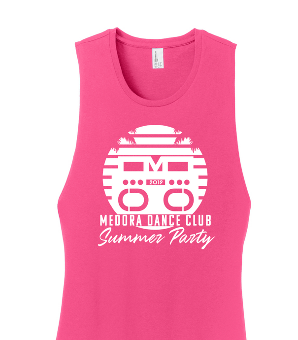 Hot Pink Women's Dance Club Summer Tank