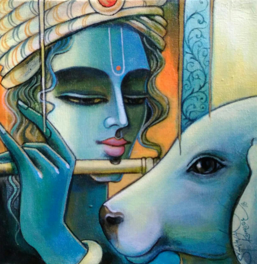 Krishna with Calf