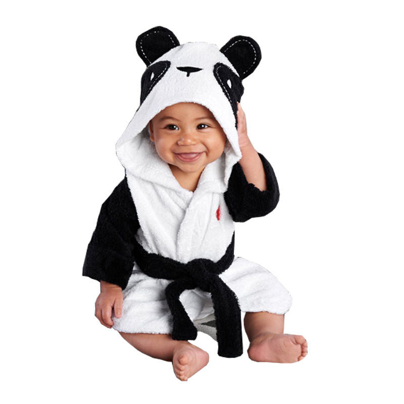 2020 Newborn Boy Girl Animal Bathrobe Baby Hooded Bath Robe Towel Infant Bathing Cute Cosplay