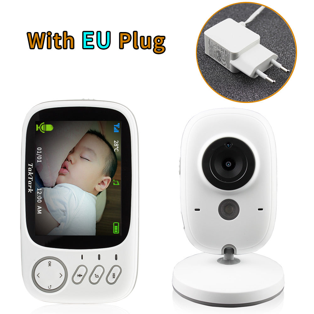 3.2 inch Wireless Video Color Baby Monitor High Resolution Baby Nanny Security Camera Night Vision
