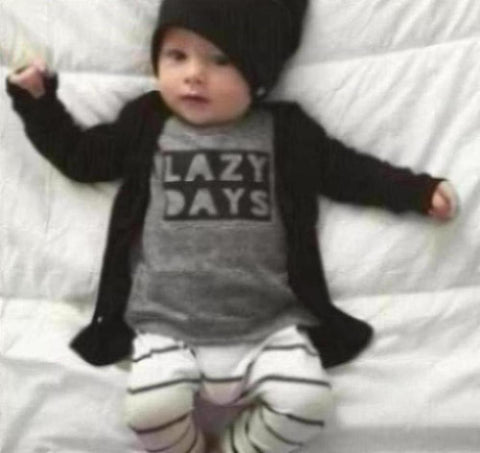 2019 Autumn baby boy clothes baby clothing set fashion cotton long-sleeved Letter T-shirt+pants