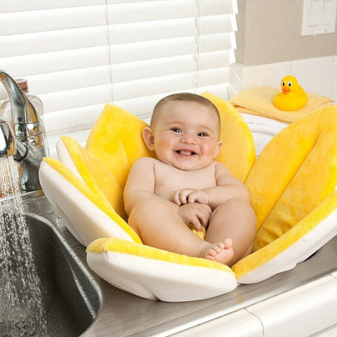 80*80CM Baby Flower Play Bath Cushion Foldable Blooming Sunflower Mat Newborn Baby bathtub seat