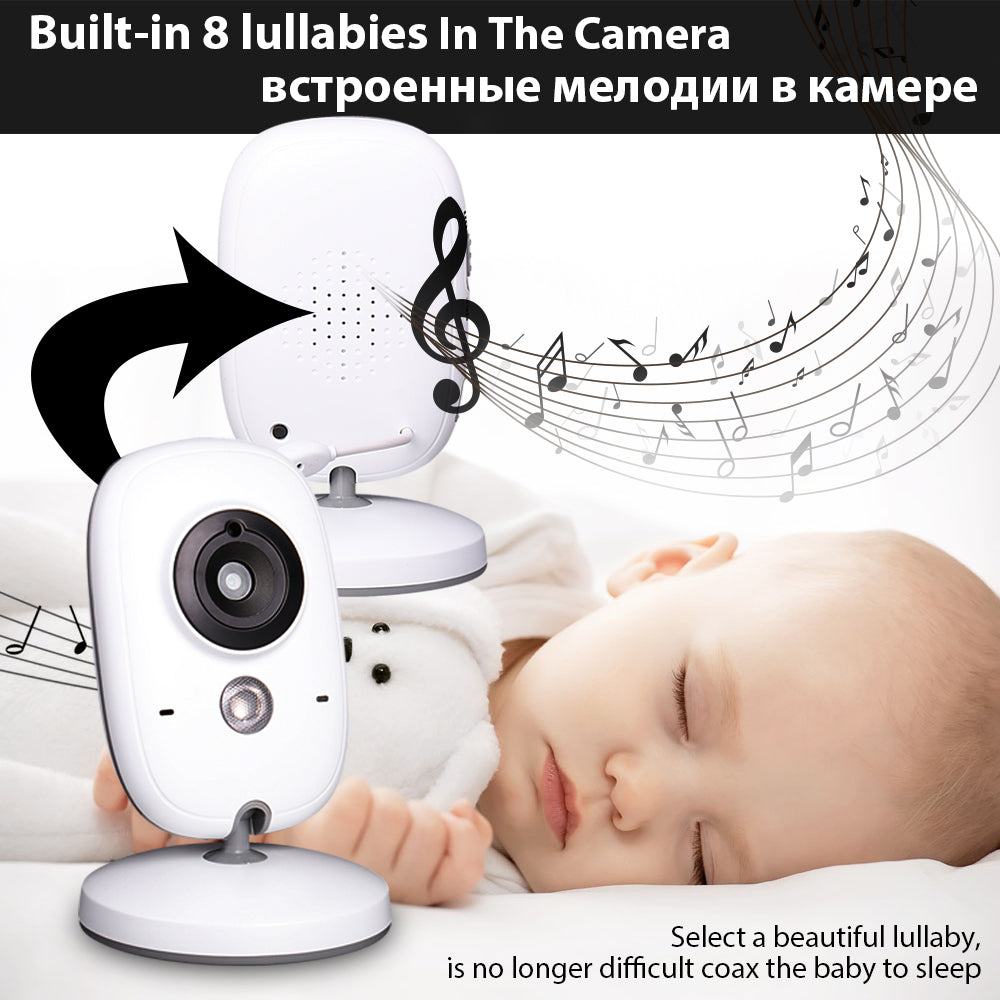 DBPOWER VB603 Video Baby Monitor 2.4G Wireless with 3.2 Inches LCD 2 Way Audio Talk