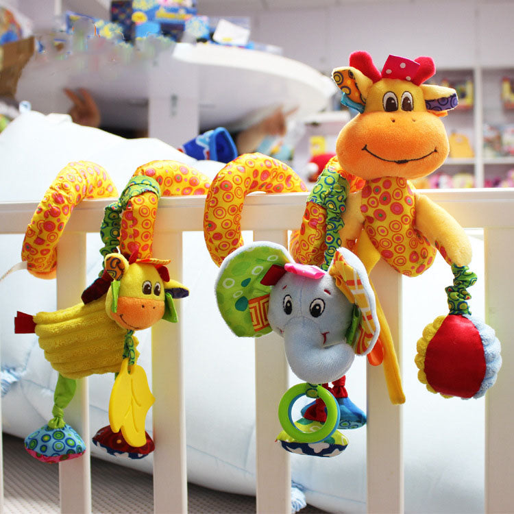 New Arrival Baby Toys Cute Musical Giraffe Multifunctional Crib Hanging Bed Bell