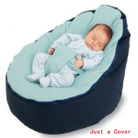 Baby Bean bag Portable Infant Chair Cushion.  Cover Only Requires 750g White Polystyrene to fill