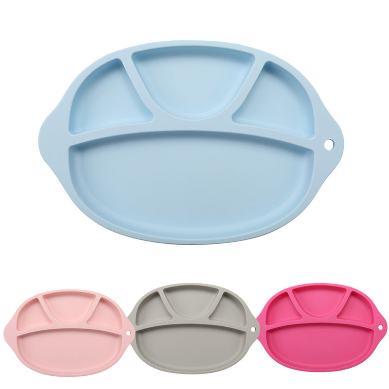 Children Portable Silicone High Temperature Resistance Oven Dining Table Suction Plate Place Mat