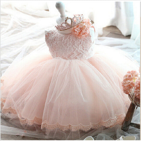 2019/20 High Quality Baby Girl Christening Dress for Infant 1 Year Birthday Dress