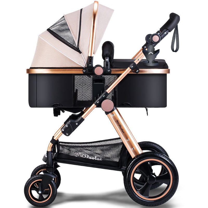 USA free shipping  !Baby Stroller High Landscape Can Sit And Lie Children's  Pram high Quality