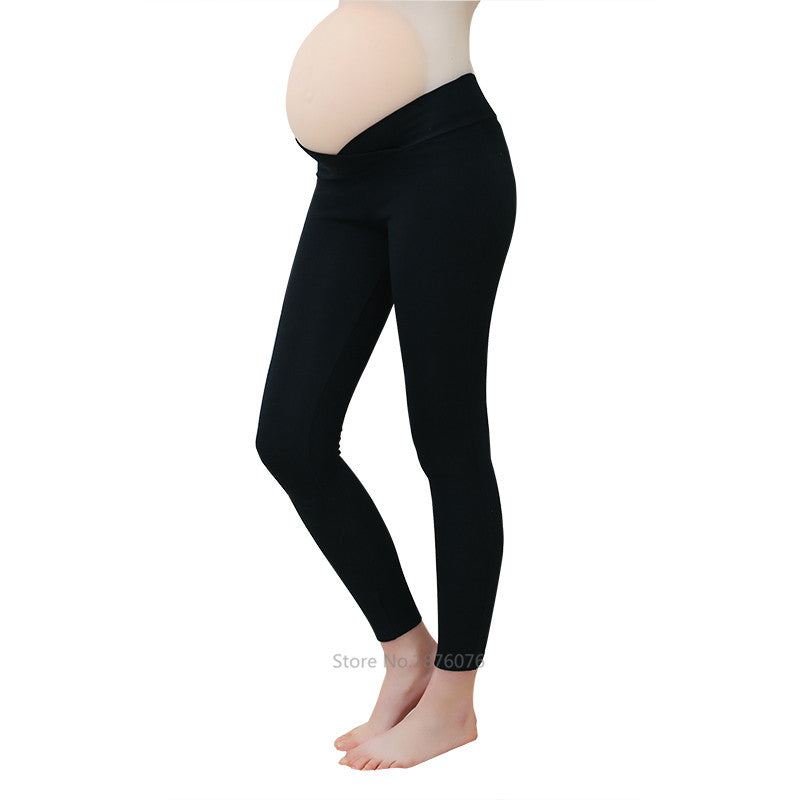 ZTOV 2020 Spring Maternity Leggings Low Waist Pregnancy Belly Pants For Pregnant Women