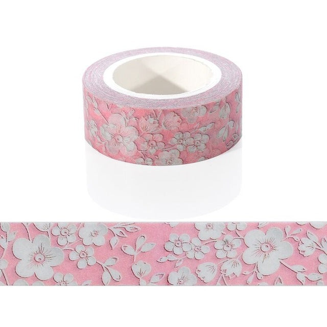 1pcs Diy Candy Hot Flower Tape Decoration Roll Diy Washi Decorative