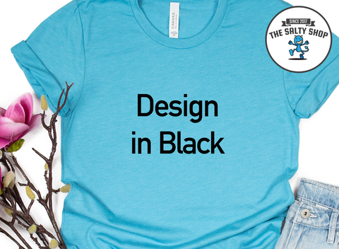 Black Design on Aqua Shirt