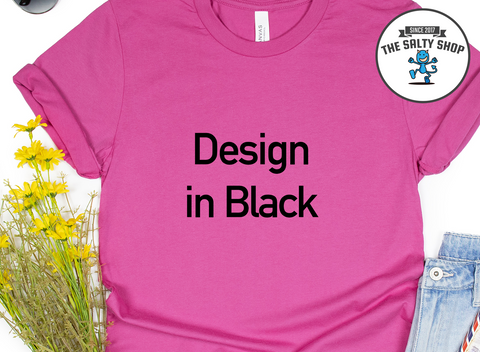Black Design on Berry Shirt