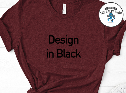 Black Design on Cardinal Shirt