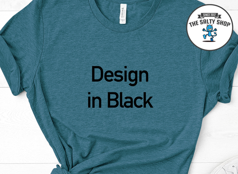 Black Design on Dark Teal