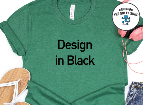 Black Design on Green Grass Shirt