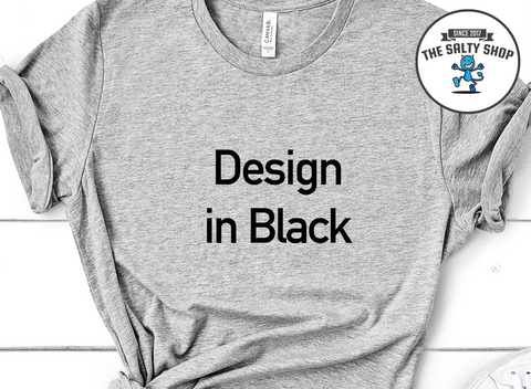 Black Design on Grey Shirt