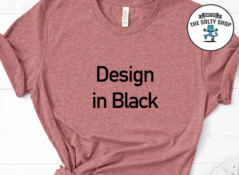 Black Design on Mauve Shirt