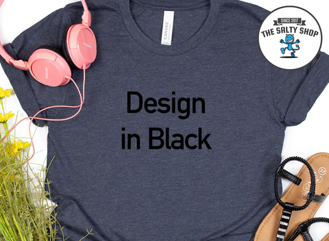 Black Design on Navy Shirt