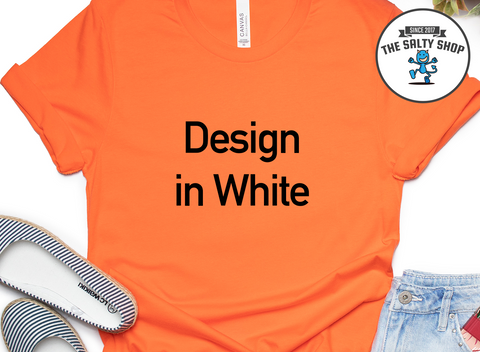 Black Design on Orange Shirt