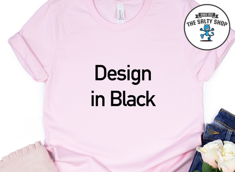 Black Design on Pink Shirt