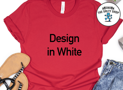 Black Design on Red Shirt