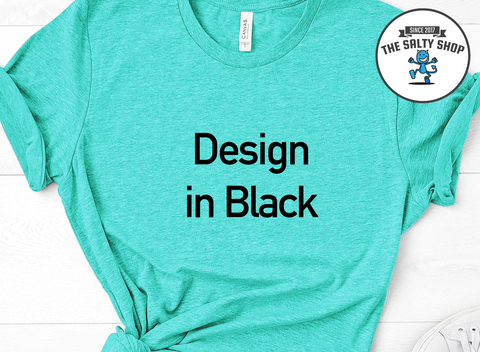 Black Design on Sea Foam Shirt