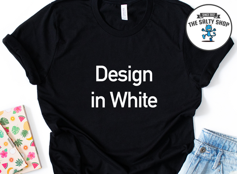 White Design on Black Shirt