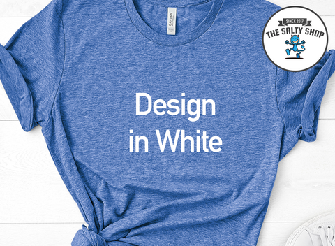 White Design on Blue Shit