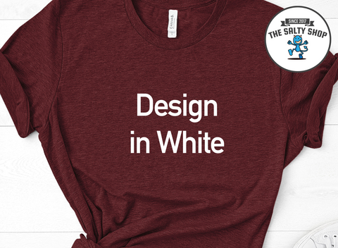 White Design on Cardinal Shirt