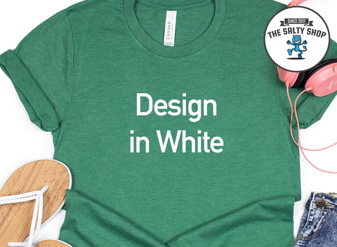 White Design on Green Grass Shirt