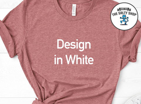 White Design on Mauve Shirt