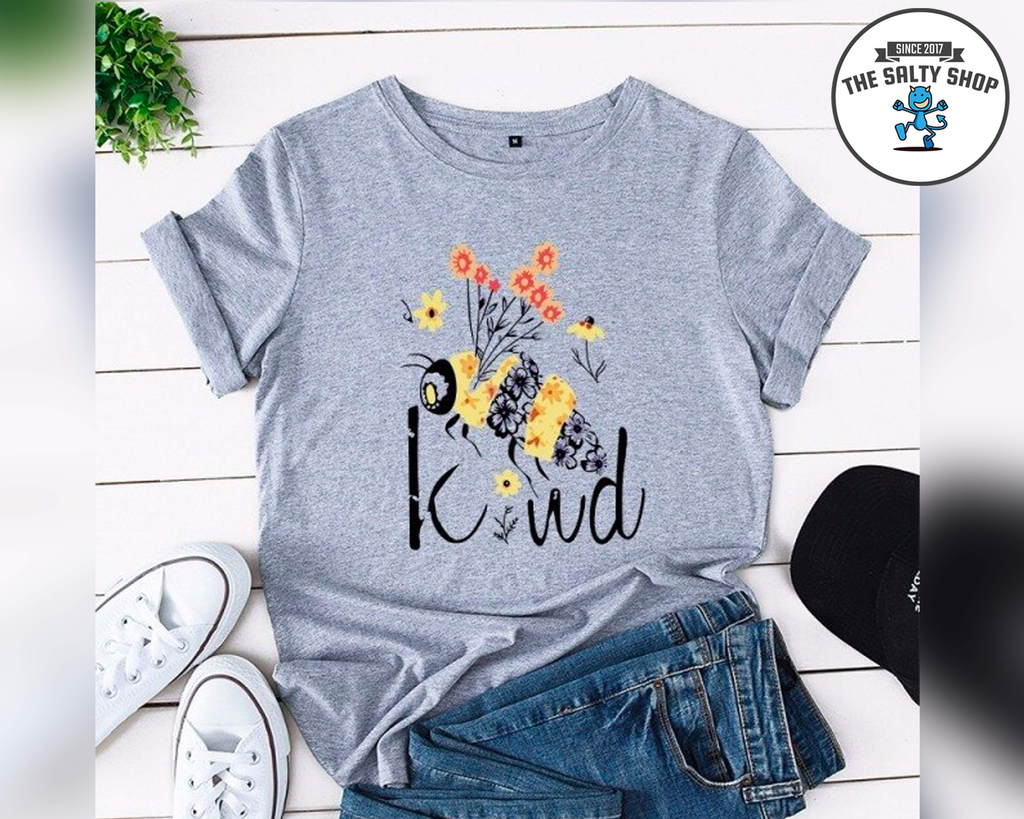 'Be Kind' Bee Pun Women's Printed T-Shirt
