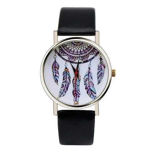 Feather and Mandala Designed Women's Watch